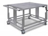 portable adjustable height work bench and cart